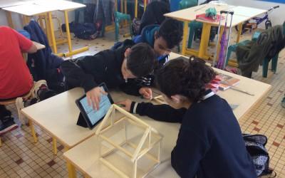Construcción de invernaderos por las clases de 6ème